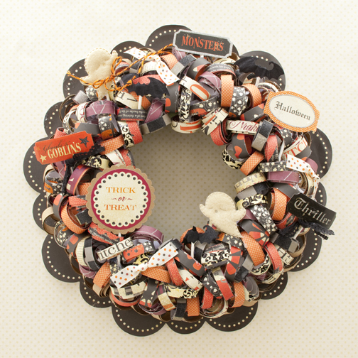 Making Memories Ribbon Halloween Wreath